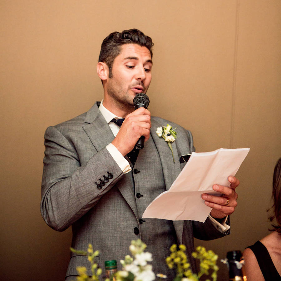 Wedding Speech Writing Workshop For One By The Indytute