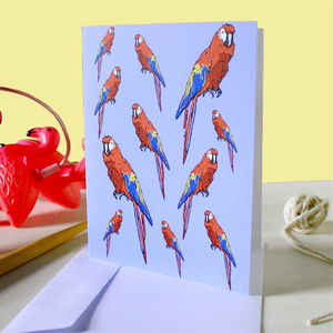 Safari Parrot Greetings Card