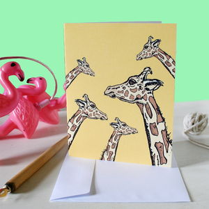 Safari Giraffe Greetings Card - shop by category