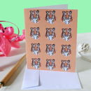 Safari Tiger Greetings Card