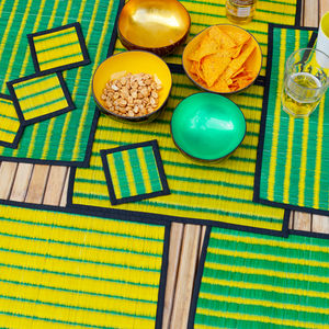 Brazil Colourful Placemat And Coaster Set