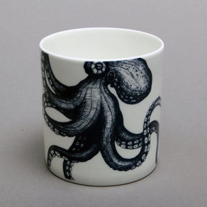Bone China Octopus Mug - mugs
