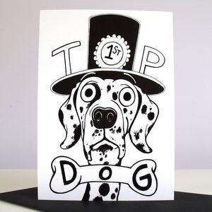 'Top Dog' Congratulations Card