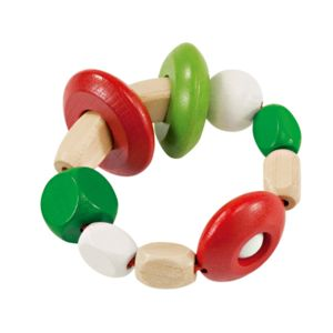 Wooden Baby Rattle - toys & games