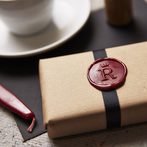 Personalised Crown Monogram Wax Seal Stamp - wax seals