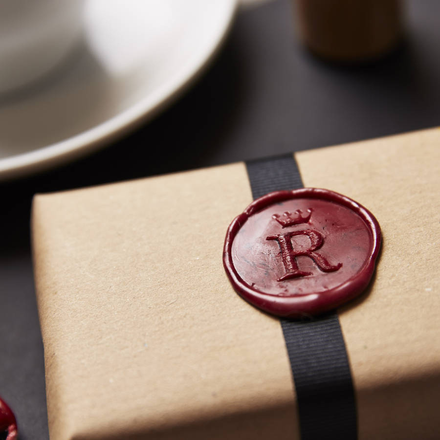 Personalised Crown Monogram Wax Seal Stamp By Sophia