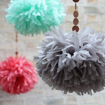 Tissue Paper Tassel Pompom Pom Pom