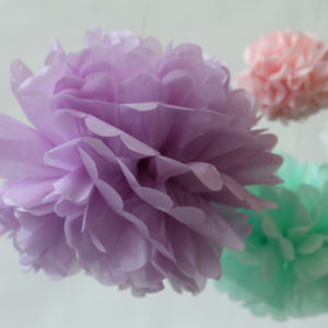 Tissue Paper Petal Pompom Pom Pom - hanging decorations
