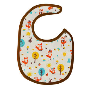 Mr Fox Organic Cotton Bib