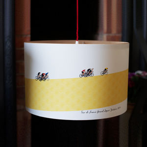 Tour De France Cycling Lampshade - office & study
