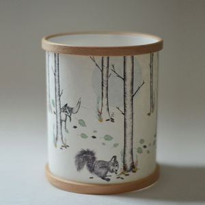 Woodland Illustrated Candle Cover - home accessories