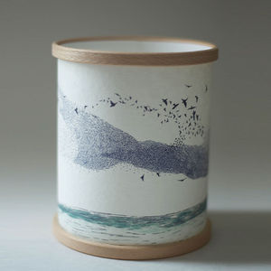 Murmuration Illustrated Candle Cover - home accessories