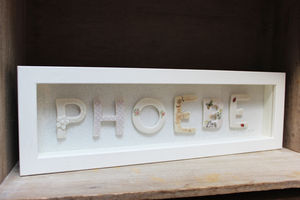 Personalised Framed Porcelain Name - pictures & prints for children