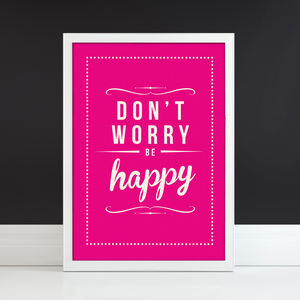 'Don't Worry Be Happy' Fine Art Retro Print