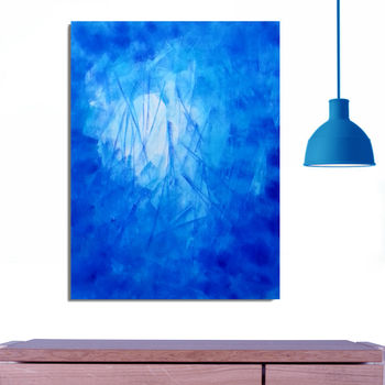 Blue Fight2 Abstract Original Painting