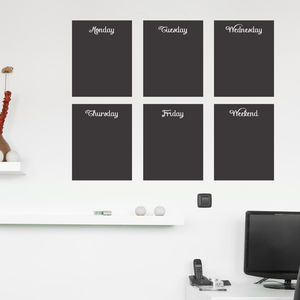 Chalkboard Wall Stickers - storage & organisers