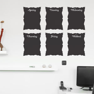 Baroque Chalkboard Wall Stickers - wall stickers