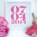 Personalised Christening Dates Framed Print