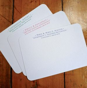 Set Of Six Personalised Address Notecards