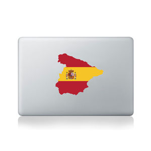 Spain Country Flag Sticker - bedroom