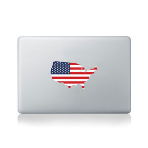 USA Country Flag Sticker - bedroom