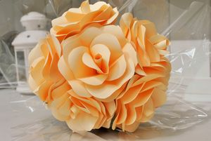 Half A Dozen Paper Rose Bouquet - wedding fashion