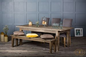 Reclaimed Timber Panel Top Grand Bakers Dining Table