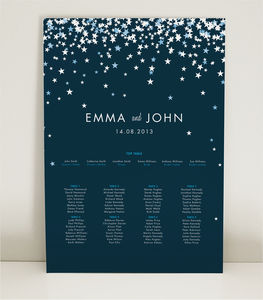 Bella Wedding Table Plan - wedding stationery