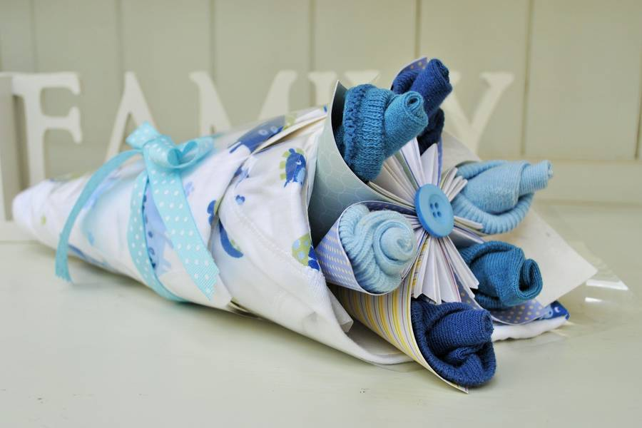 New Baby Gift Wrapping Ideas : Newborn accessories and paper flower bloom gift by cot tot