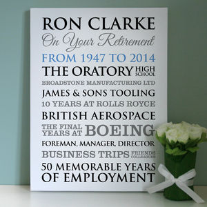 Personalised Retirement Art - posters & prints for children