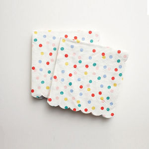 Polka Dot Small Napkin Set X 20