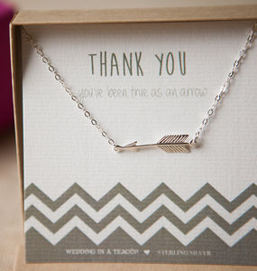 'True As An Arrow' Sterling Silver Necklace - thank you gifts