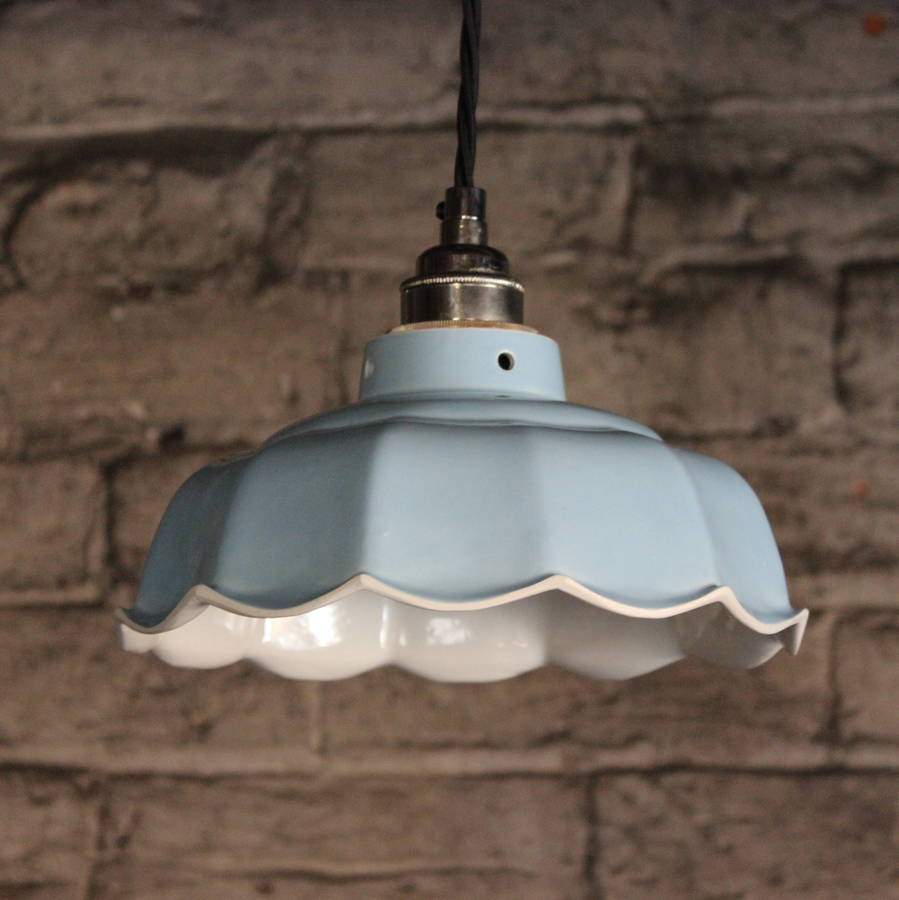 Avalon Sky Ceramic Pendant Light By Lyngard Ceramics