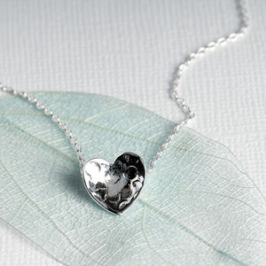 Textured Love Heart Necklace
