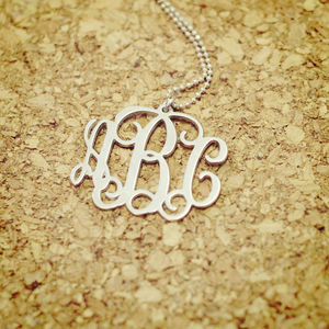 Personalised Monogram Necklace - necklaces & pendants