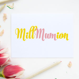 'Mum In A Million' Card