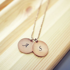 Personalised Engraved Disc Necklace