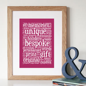 Personalised Word Art Print - prints & art sale