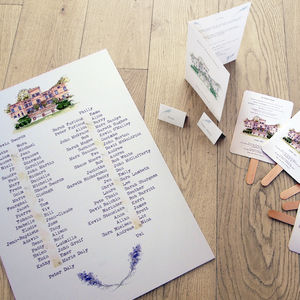 Wedding Table Plan - table decorations