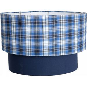 Two Tier Check Lampshade - lighting