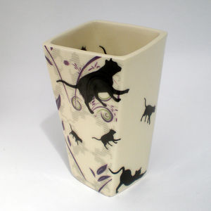 Flower Cat Vase - tableware