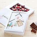 Personalised New Baby Dark Chococard
