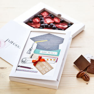 Personalised End Of Therm Milk Chococard - graduation gifts