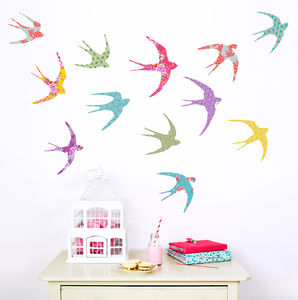 Patterned Bird Wall Stickers