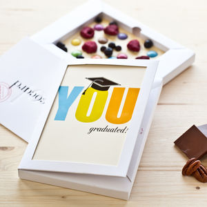 Personalised End Of Therm White Chococard - graduation gifts