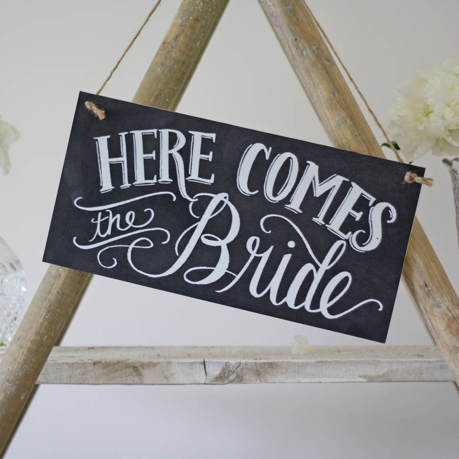 Here Comes The Bride Sign: Here Comes The Bride Wedding Sign