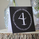 Chalkboard Wedding Table Number Cards