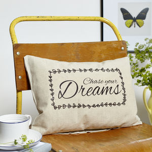 Chase Your Dreams Boudoir Cushion - living room