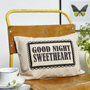 Good Night Sweetheart Boudoir Cushion