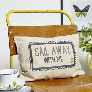 Sail Away With Me Boudoir Cushion - patterned cushions